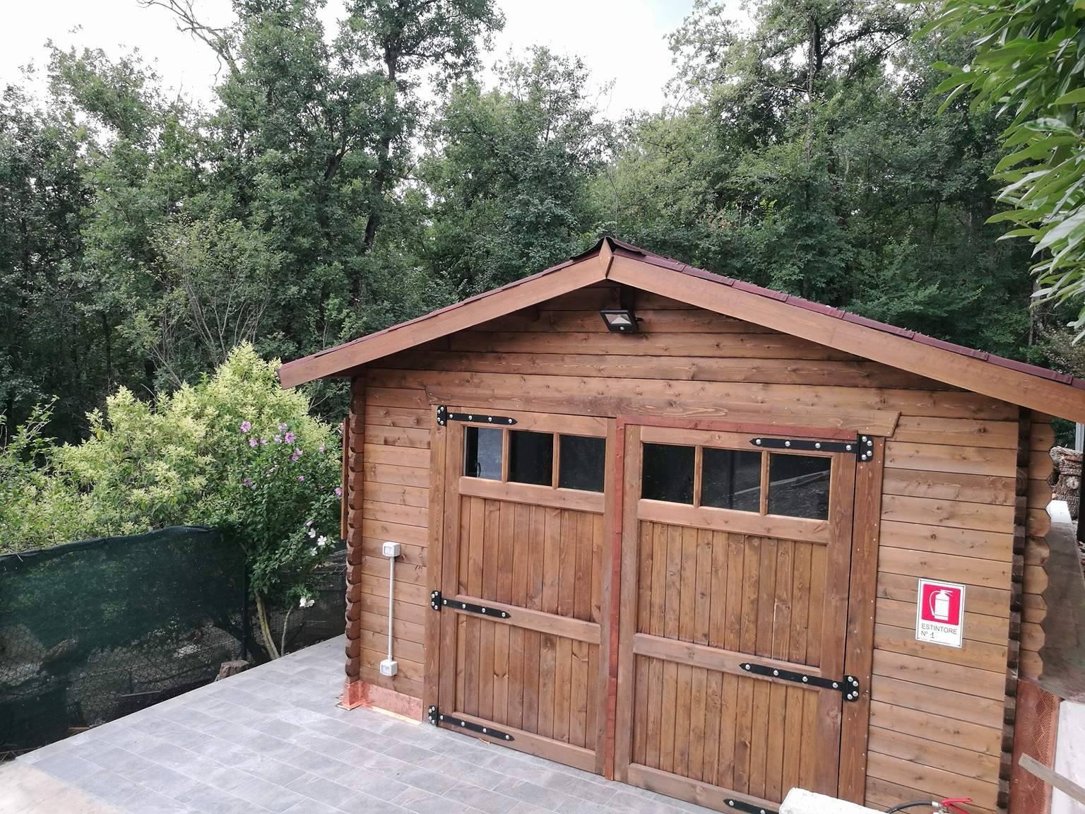 Garage in legno con accessori 4x5 mq vendita online - Garage in legno ...