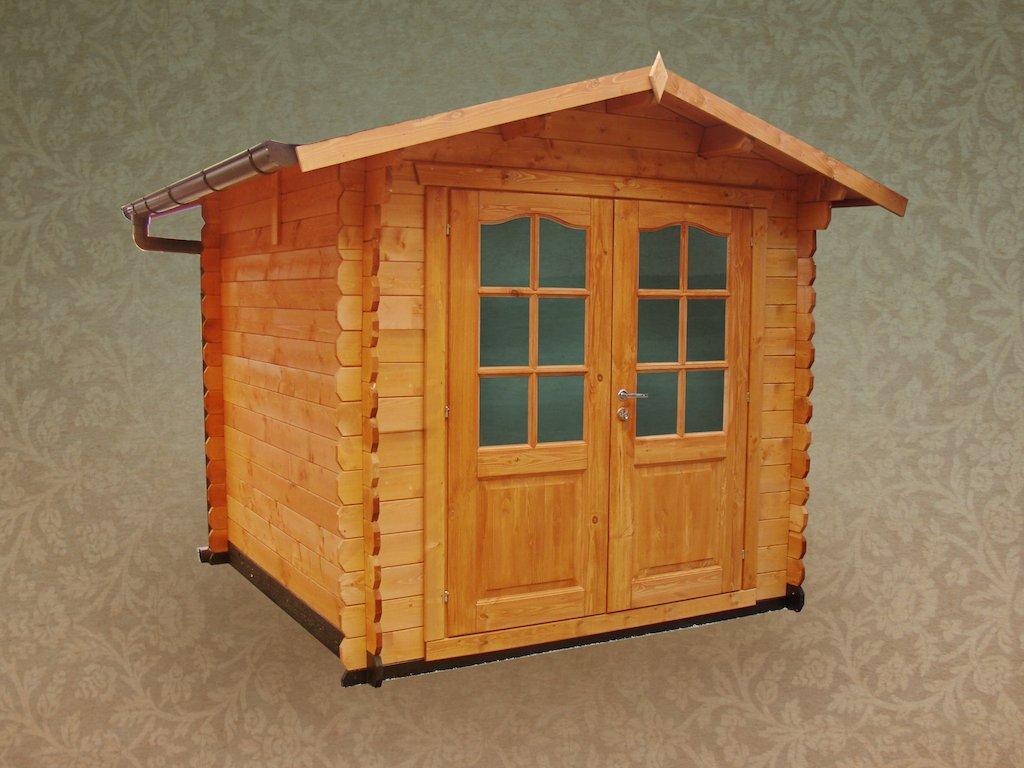 Casetta in legno 2 2x2 2 spessore 28 mm con porta doppia for Casetta con seminterrato