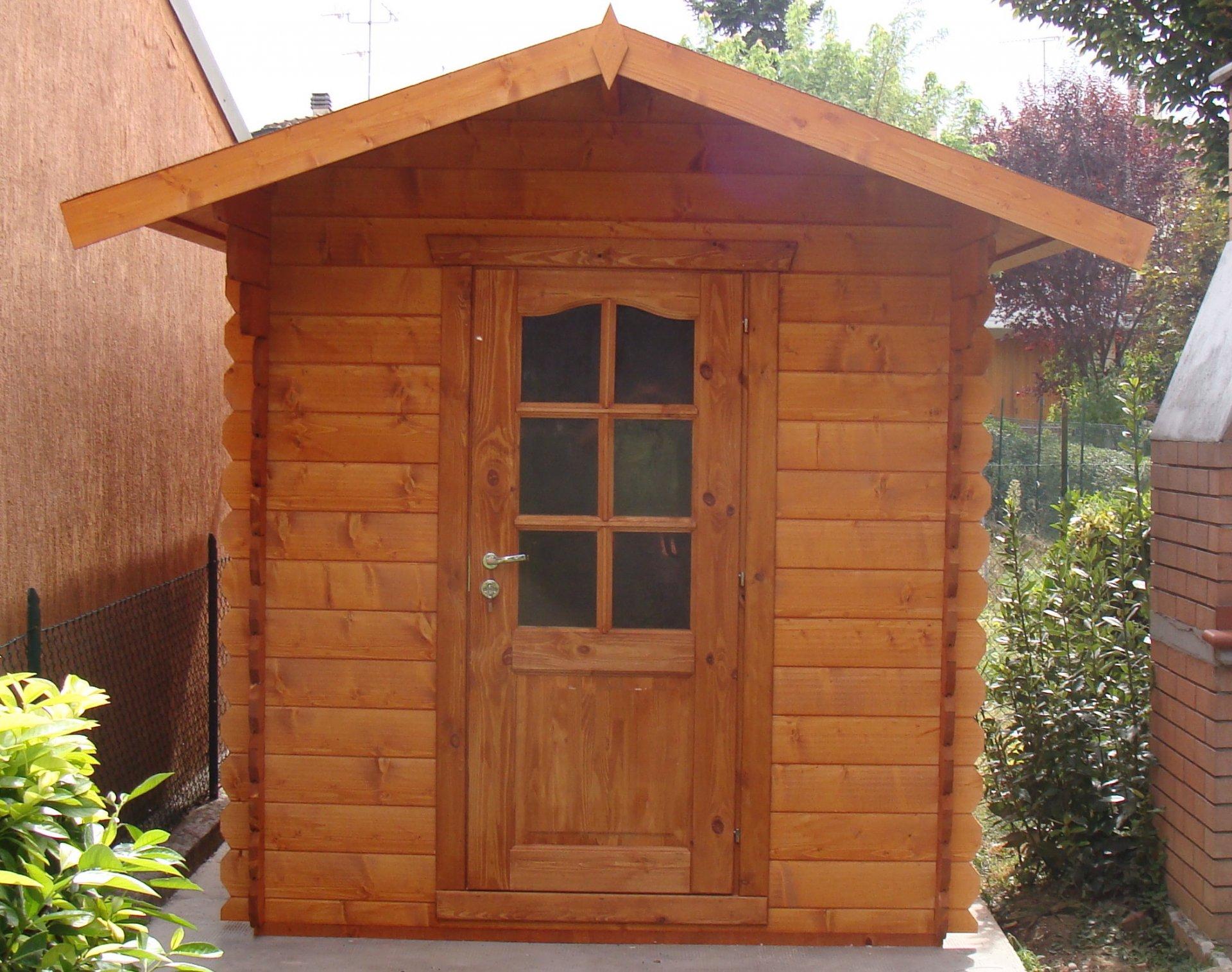 Casetta in legno 2x3 28mm a porta singola ad un prezzo for Offerte casette in legno