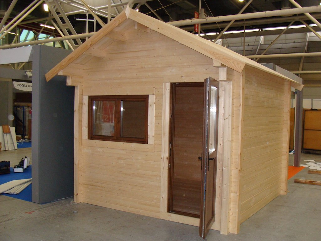 Casetta in legno coibentata 3x3 porta singola e finestra for Casetta legno 3x3