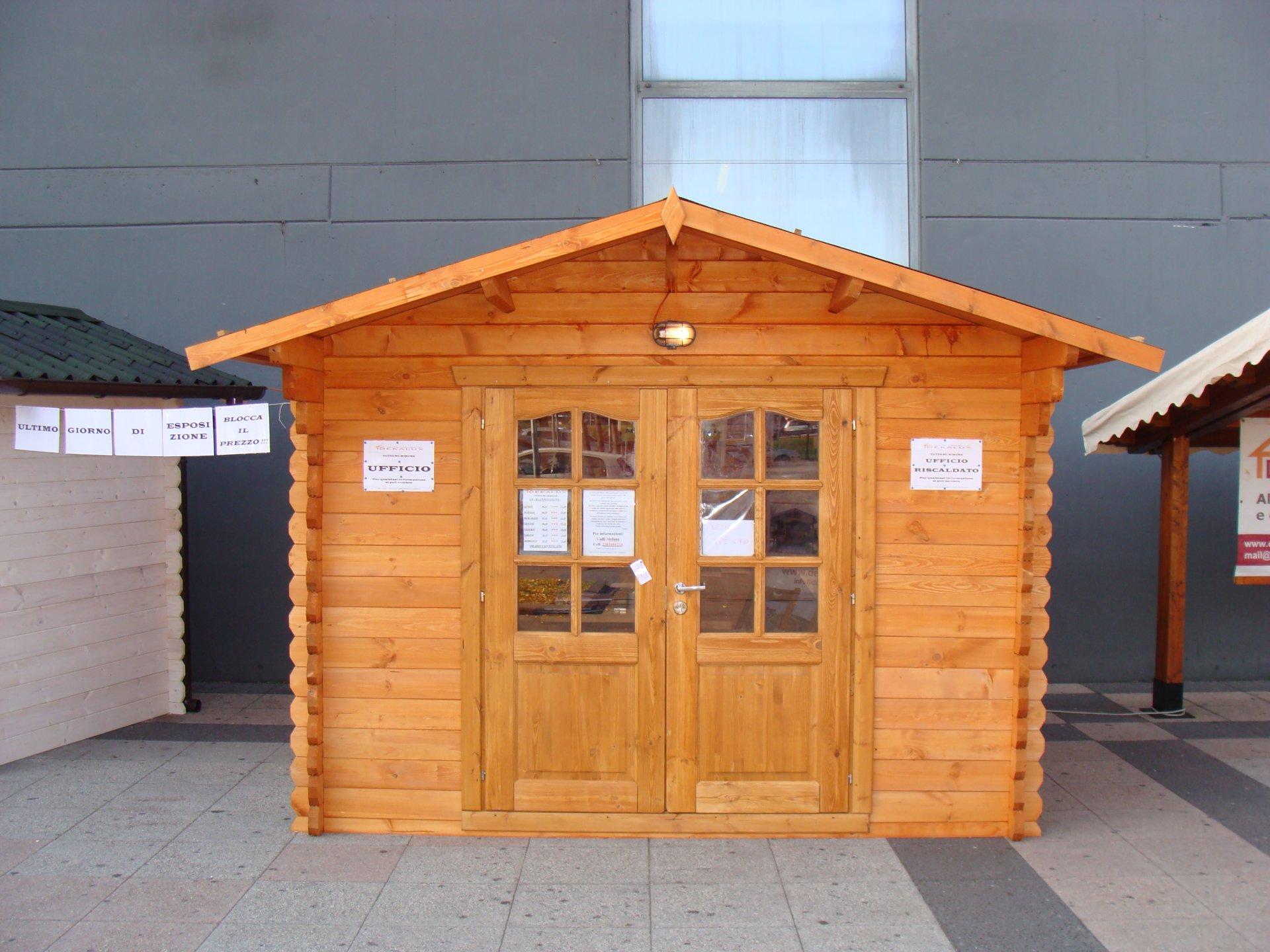 Casetta in legno 3x4 28mm con porta doppia for Offerte casette in legno