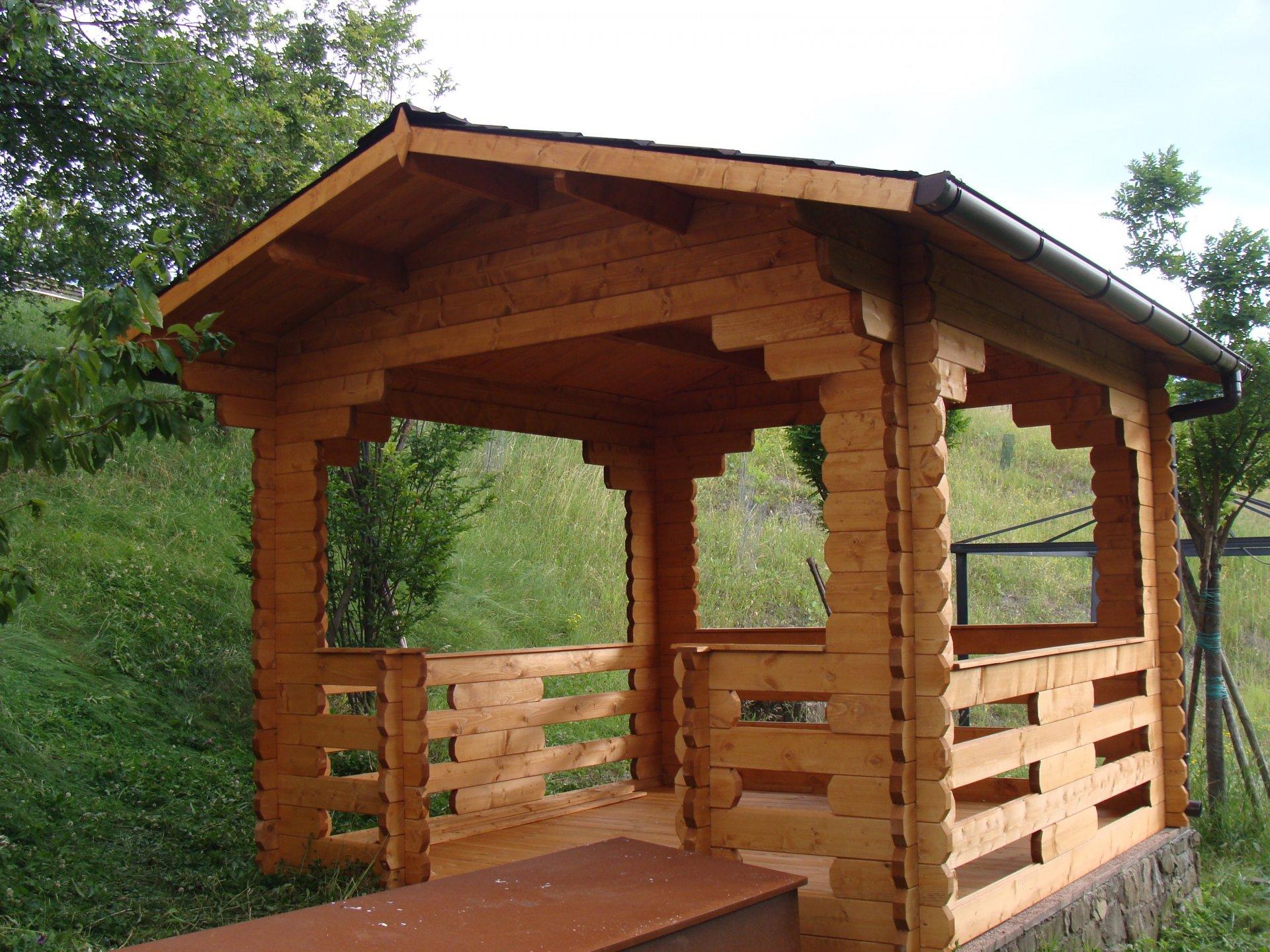 Gazebo in legno 3x3 44 mm for Gazebo in legno usato