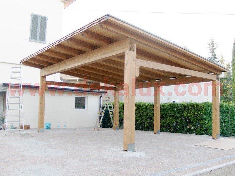 abbastanza Immagini tettoie in legno MJ58