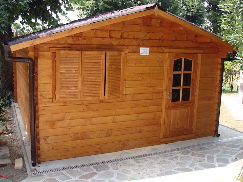 bungalow legno 5x4 con accessori in vendita