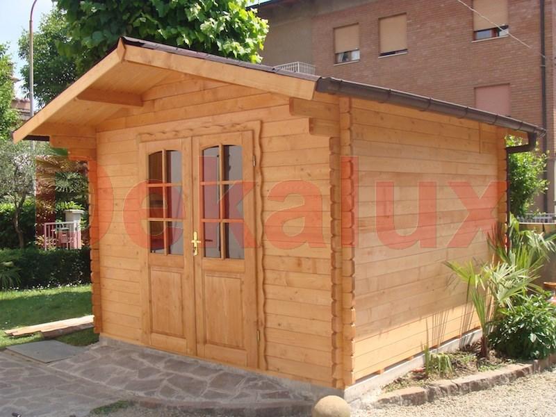 Casetta in legno 3x3 5 40mm con porta doppia for Casetta legno 3x3