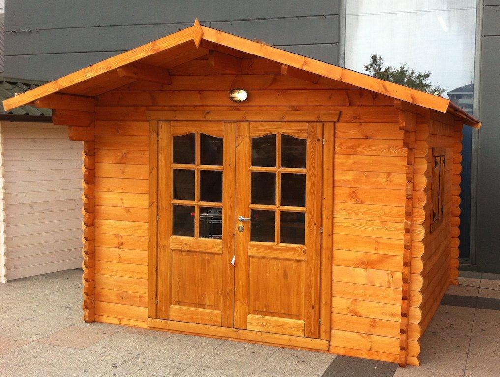 Casette in legno 3x2 5 con porta doppia dekalux for Bungalow in legno abitabili prezzi