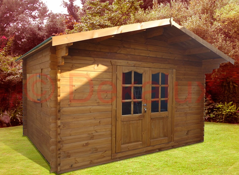 Bungalow in legno 4x4 m 44 mm al miglior prezzo for Offerte casette in legno
