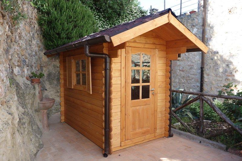 Casette in legno da giardino 1 5x2 5 con porta singola e finestra - Casette in legno da giardino ...