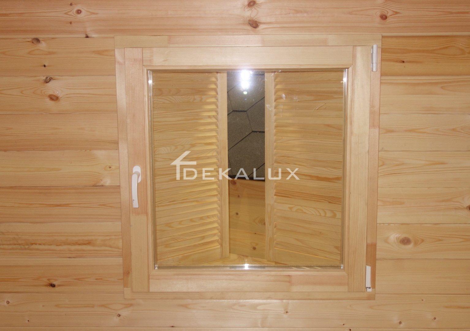 Parete Divisoria In Legno bungalow in legno 5x5 (44mm) con parete divisoria