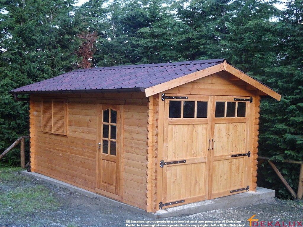 Portoni A Due Ante Per Garage Usato.Garage In Legno Con Portone A 2 Ante 320x520 44 Mm
