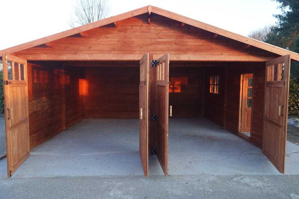 Garage in legno 6 6 44 mm da giardino in vendita for Fantastici disegni di garage