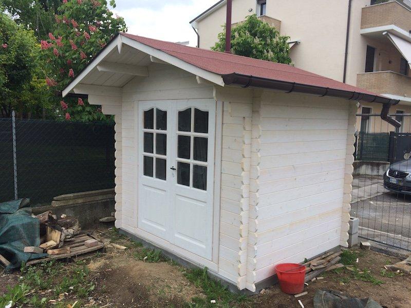Casetta da giardino con porta doppia misure 2 5x2 - Casetta in legno da giardino bianca ...