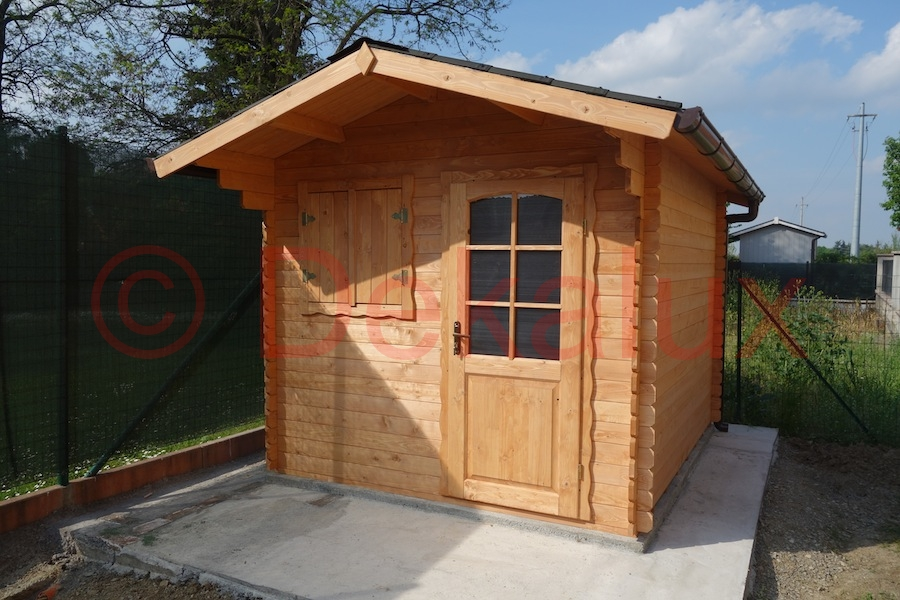 Casetta in legno 2 5x2 5 28mm porta singola for Casetta in legno prezzo