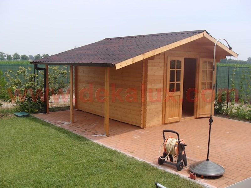Casetta da giardino con porta doppia misure 2 5x2 for Case di tronchi economici da costruire