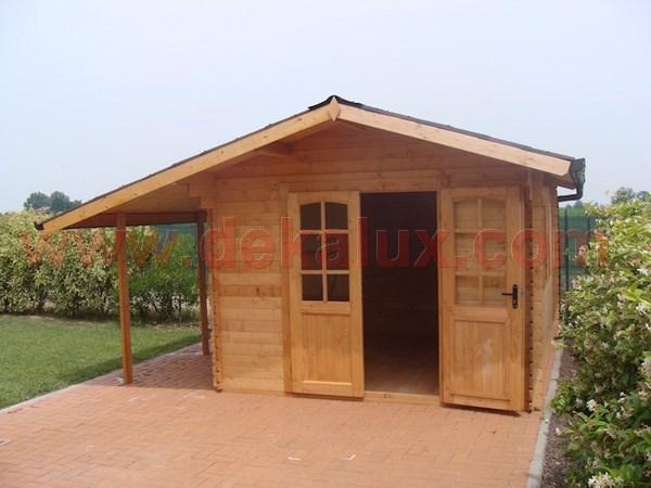 casetta da giardino con porta doppia misure 2 5x2