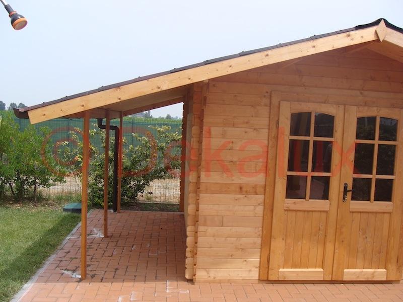 Casetta in legno 3x3 5 28mm con porta doppia for Casetta legno 3x3