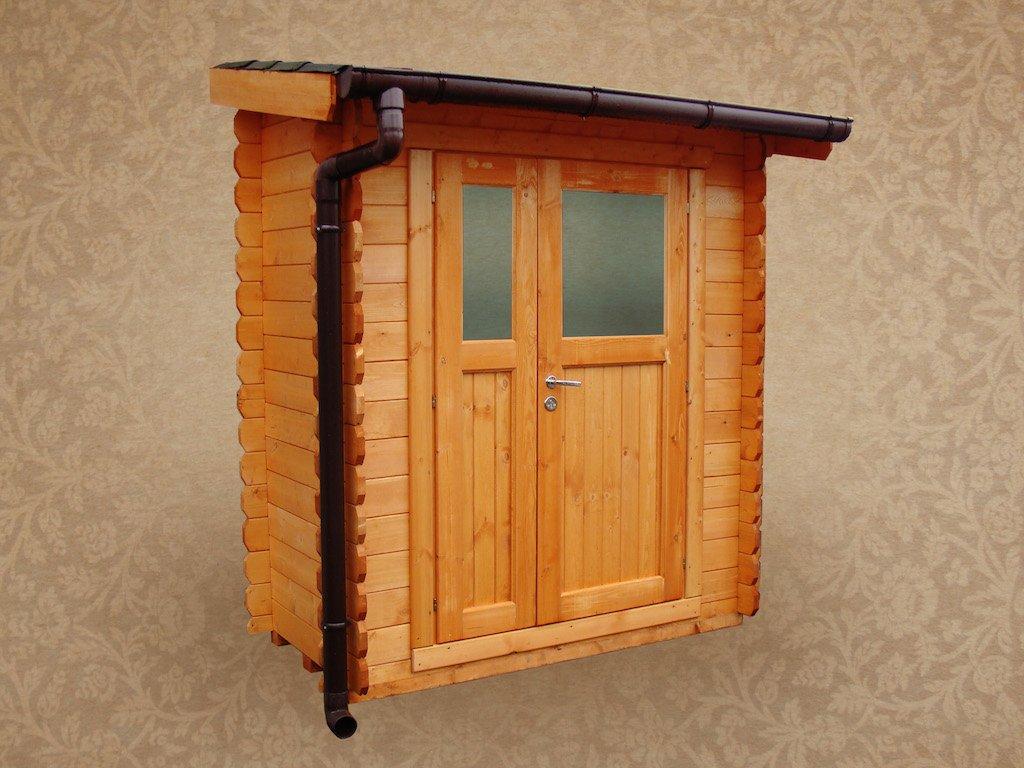 Box in legno 2x1 metri con copertura del tetto colorata for Casetta in legno bricoman