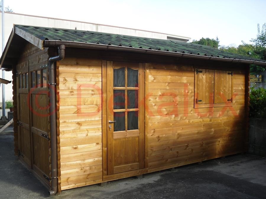 Garage in legno 3 5x5 44 mm - Garage in legno ...