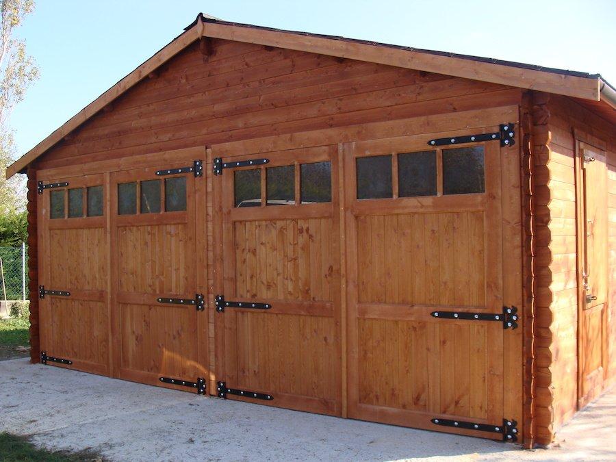 Garage in legno 6 6 44 mm da giardino in vendita for 10 piani di garage per auto
