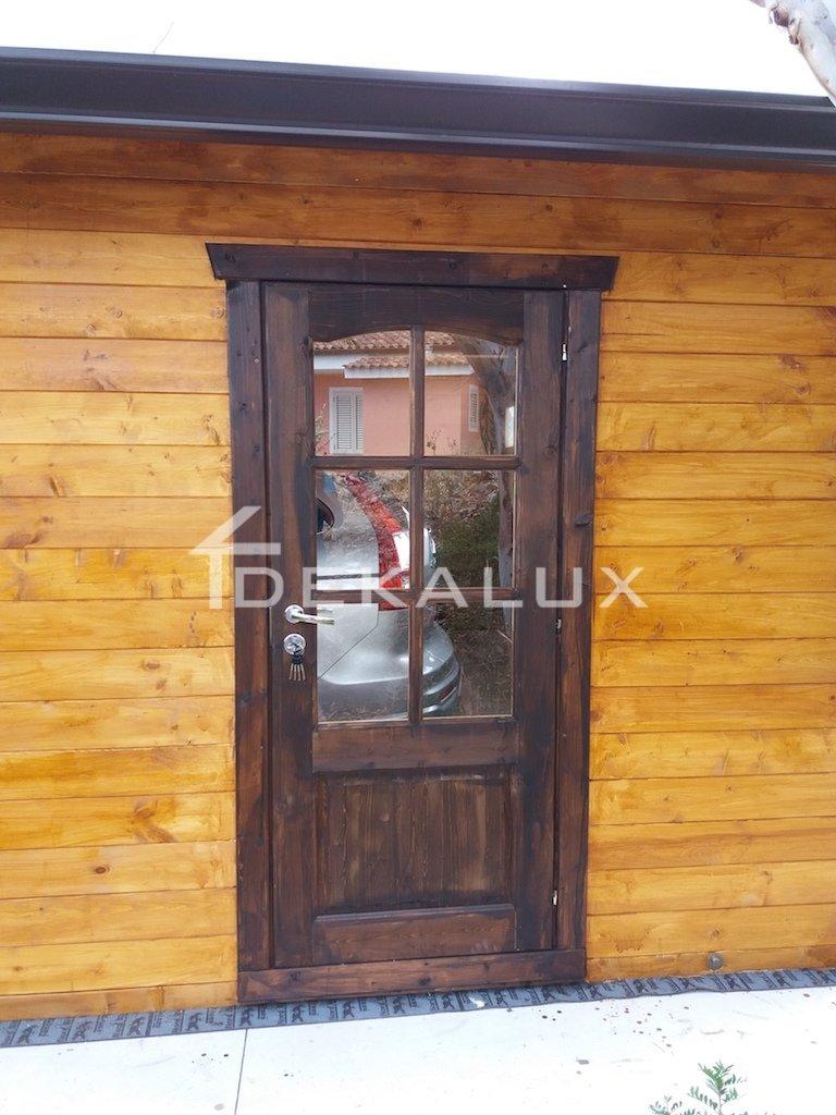 Portoni A Due Ante Per Garage Usato.Garage In Legno 6 6 44 Mm Da Giardino In Vendita