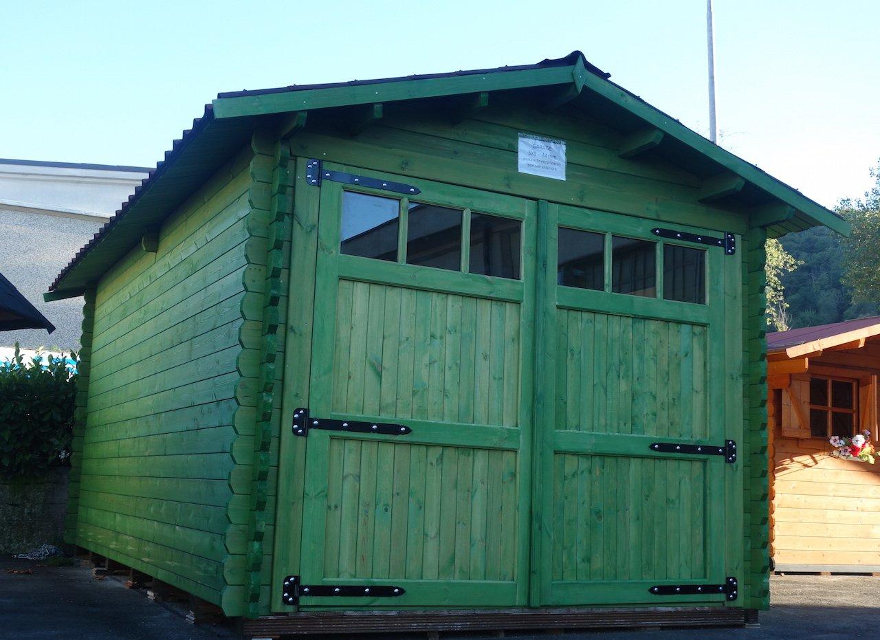 ✔ Vendita garage prefabbricato da esterno in legno