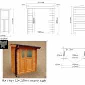 Casetta - Box in legno m 2x1(esterne)