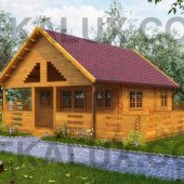 Bungalow in legno medie dimensioni