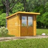 Casetta in legno 2,2x2,2_porta doppia MONOFALDA