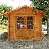 Casetta in legno da giardino 2,5x2 44mm_porta doppia