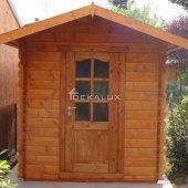 Casetta in legno da giardino 2x3 44mm_porta singola e finestra laterale