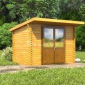 Casetta in legno 3x2 (34mm)_porta doppia MONOFALDA