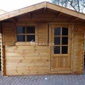 Casetta in legno da giardino 3x2 44mm_porta singola e finestra
