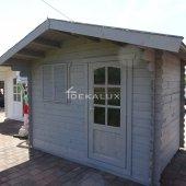 Casetta in legno 2,5x2,5 (28mm) porta singola