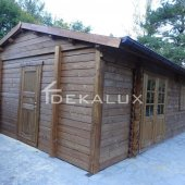 Bungalow in legno 5x6 (44mm) con le parete divisorie