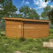 Casetta in legno 4x3, spessore 34 mm, con porta doppia MONOFALDA