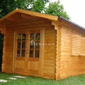 Casetta in legno 3x3,5 (28mm) con porta doppia