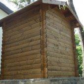Casetta in legno 1,8x1,8(28mm) con porta singola