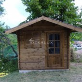 Casetta in legno da giardino 2,5x2,5 44mm_porta singola e finestra