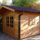 Casetta in legno 3x2,5(28 mm) con porta doppia
