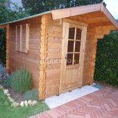 Casetta in legno 2x2,5 (28mm) con porta singola