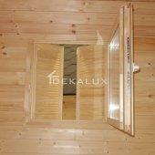 Casetta in legno da giardino 2x2,5 44mm_porta singola e finestra laterale