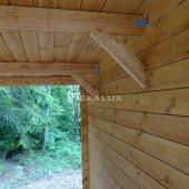 Casetta in legno 3x3 (34mm)_porta doppia MONOFALDA