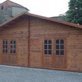 Bungalow in legno 7x5 (44mm) con due porte doppie