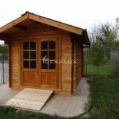 Casetta in legno 2,5x3 (44mm) con porta doppia e finestra laterale