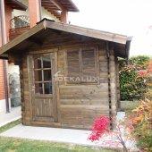 Casetta in legno 3x2 (44mm) con porta singola e finestra