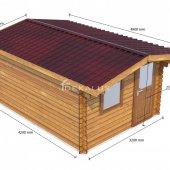 Casetta in legno 3x4 (34mm)