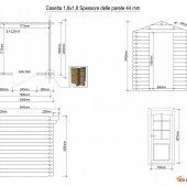 Casetta in legno 1,8x1,8 (44mm)