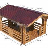 Gazebo in legno 3x4