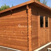 Casetta in legno 3,5x3 (34mm) porta doppia MONOFALDA