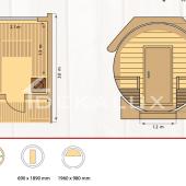 Sauna-botte SILVIA DELUX